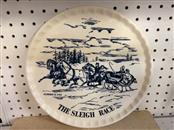 CURRIER & IVES Collectible Plate/Figurine THE SLEIGH RACE PLATE